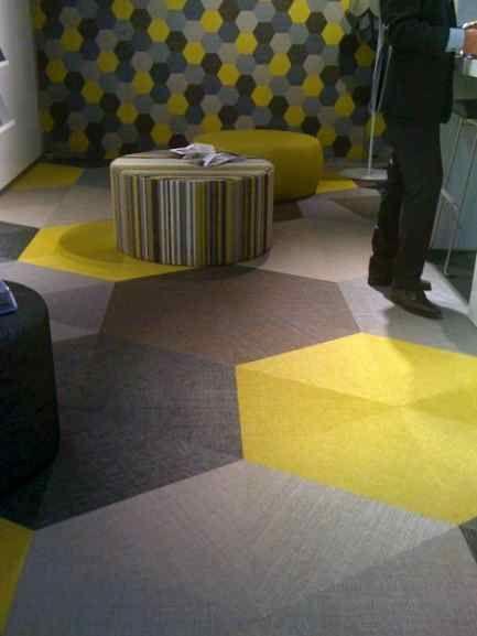 Bolon woven vinyl flooring looks very cool!