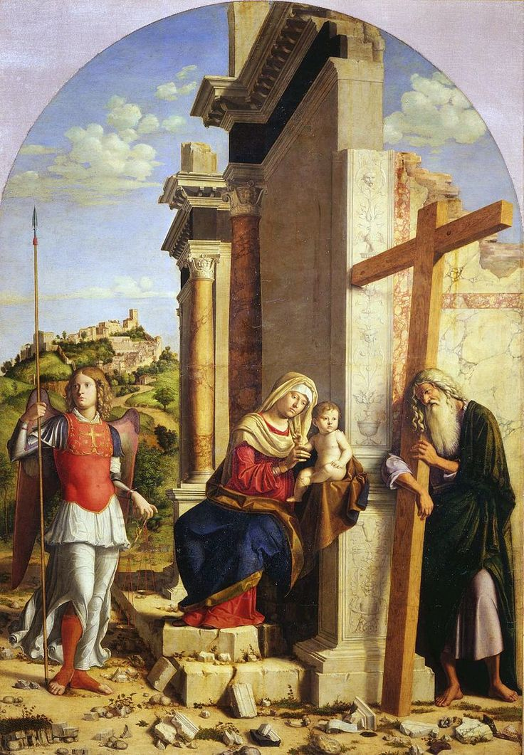 575. Cima da Conegliano - Madonna col Bambino tra i santi Michele Arcangelo e Andrea - 1505 circa - Parma, Galleria nazionale,