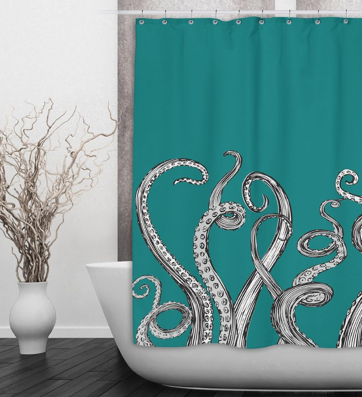 25 best ideas about teal bathrooms on pinterest teal for Tentacle shower curtain