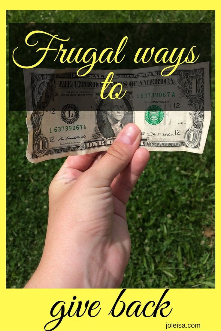 Being frugal doesn't mean hoarding it all for yourself. I usually try to give back, spread the love, here are some ways that I do that.