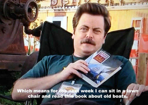 Ron swanson book spoilers the longest