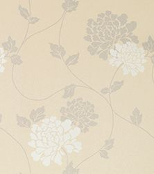 Laura Ashley wallpaper for feature wall in master bedroom.