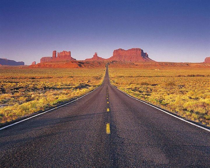route 66 arizona highway in arizona with monument valley. Black Bedroom Furniture Sets. Home Design Ideas