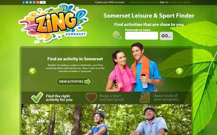 Zing Somerset is an NHS and SASP Website designed for residents of Somerset to log their daily activity. Prices are awarded each month for those who log the most minutes....