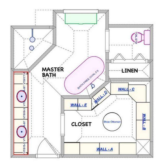 41 Master Bathroom Ideas Remodel Layout Floor Plans Walk In Shower Guide 7 Decorinspira Com Bathroom Layout Plans Master Bathroom Plans Bathroom Floor Plans