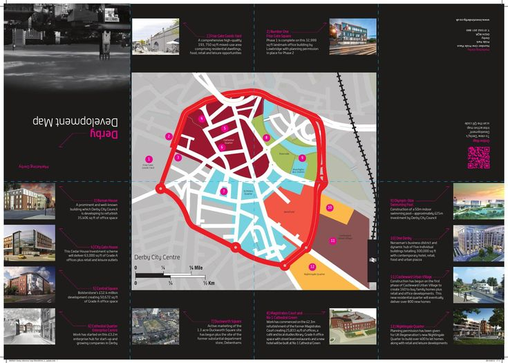Derby Development Map 2013  A glance into the future regeneration of the city of Derby...