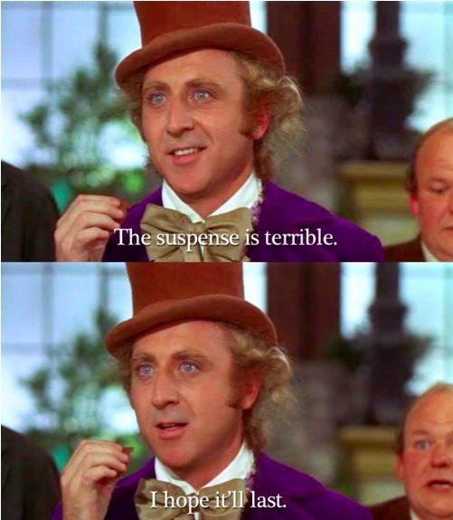 Willy Wonka: The suspense