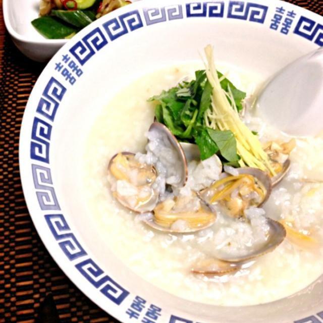風邪引きさんメニューです(*´д`*)ハァハァ・・熱 - 128件のもぐもぐ - ※アサリの中華粥 by tocca