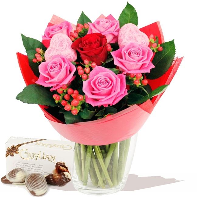 Mon Cheri bouquet of flowers & FREE Chocolates www.eden4flowers.co.uk