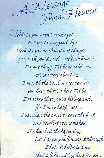 I needed to read something like this . . . It's something I think about a lot, how happy mamma must be . . . Then I feel guilty about being so sad, but I know The Lord understands what a deep loss mamma was & I am thankful He is patient & loving as I muddle through my grief. <3 elsa
