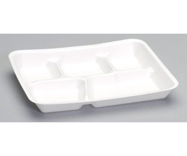 Shop 5 Compartment School Lunch Tray Pactive Hotel Supplies Foam Products, Foam Plate 8.1/4 x10.1/4 White 6.0 lbs Online At Ramayan Supply.