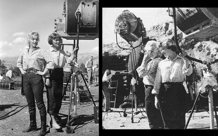 """1953, """"River of no return"""" (La rivière sans retour) d'Otto PREMINGER (Photos de Marilyn lors du tournage dont 1 photo avec son professeur d'Art Dramatique Natasha LYTESS) : ANALYSE et CRITIQUE (part 2) / Pourquoi ZANUCK exige-t-il la collaboration de son protégé pour ce western ? Parce que le film doit asseoir la popularité ascendante de Marilyn MONROE, dont les succès coup sur coup dans """"Niagara"""" de Henry HATHAWAY, dans """"Gentlemen prefer blondes"""" de Howard HAWKS et, triomphale, dans le…"""