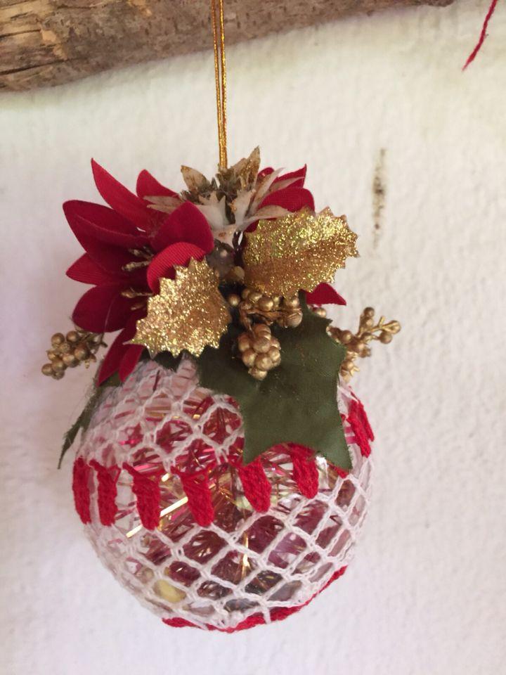 Esfera navideña en crochet