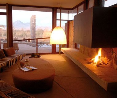 Most Romantic Hotel Fireplaces: Tierra Atacama | Travel + Leisure - February 2013