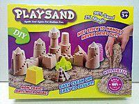 Кинетический песок, 4 цвета (каждый по 230г.) (+ формочки, стеки, лопатка)