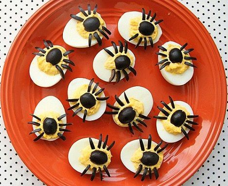 huevos araña para halloween 2013