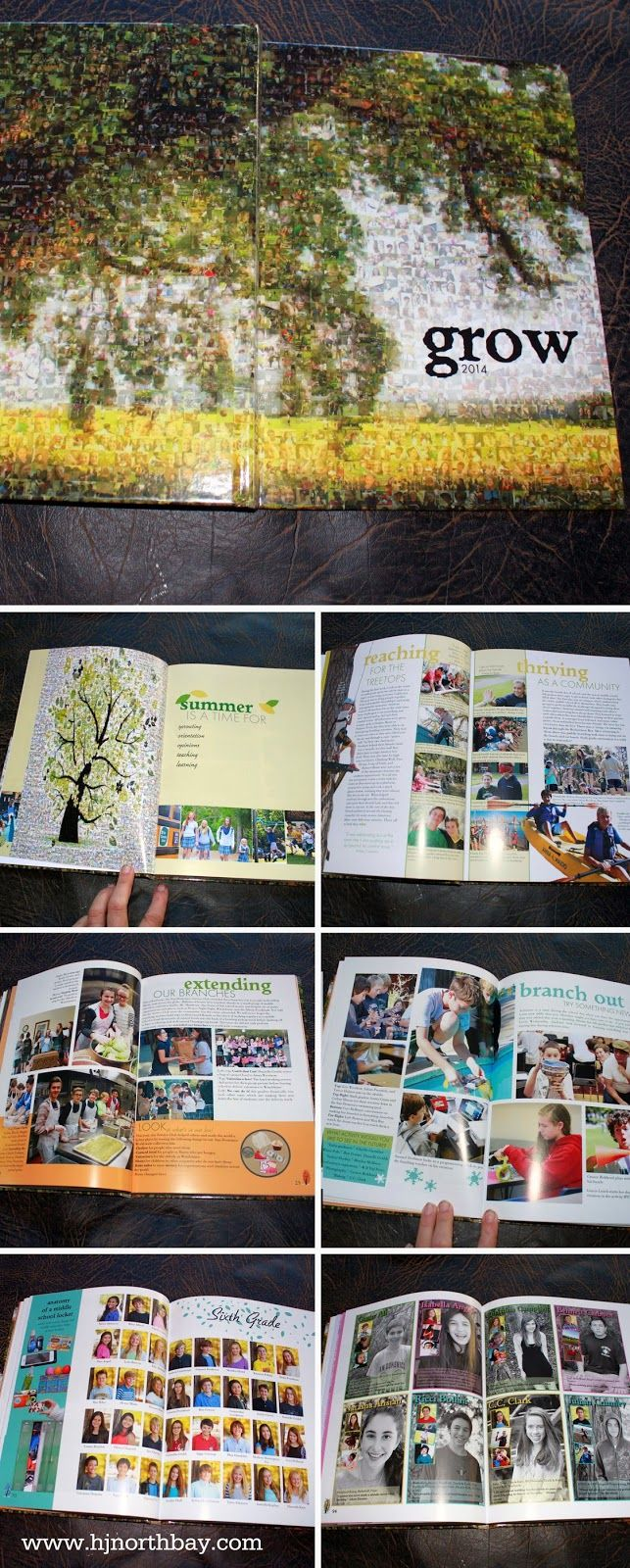 Grow yearbook theme with great coverage and a mosaic tree cover