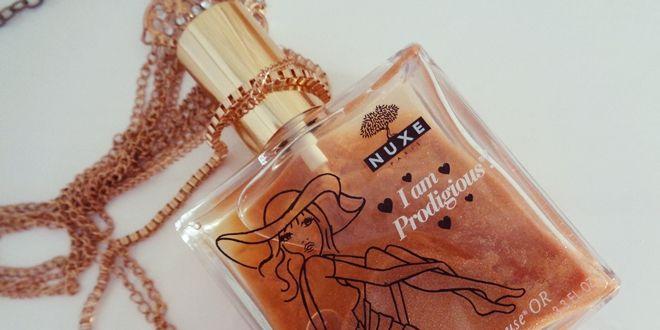 Αναλυτικό review για το ξηρό λάδι με λάμψεις το Nuxe Prodigieuse Huile OR και το άρωμα Nuxe Prodigieux le parfume. Περιγραφή, αποτελεσματικότητα.
