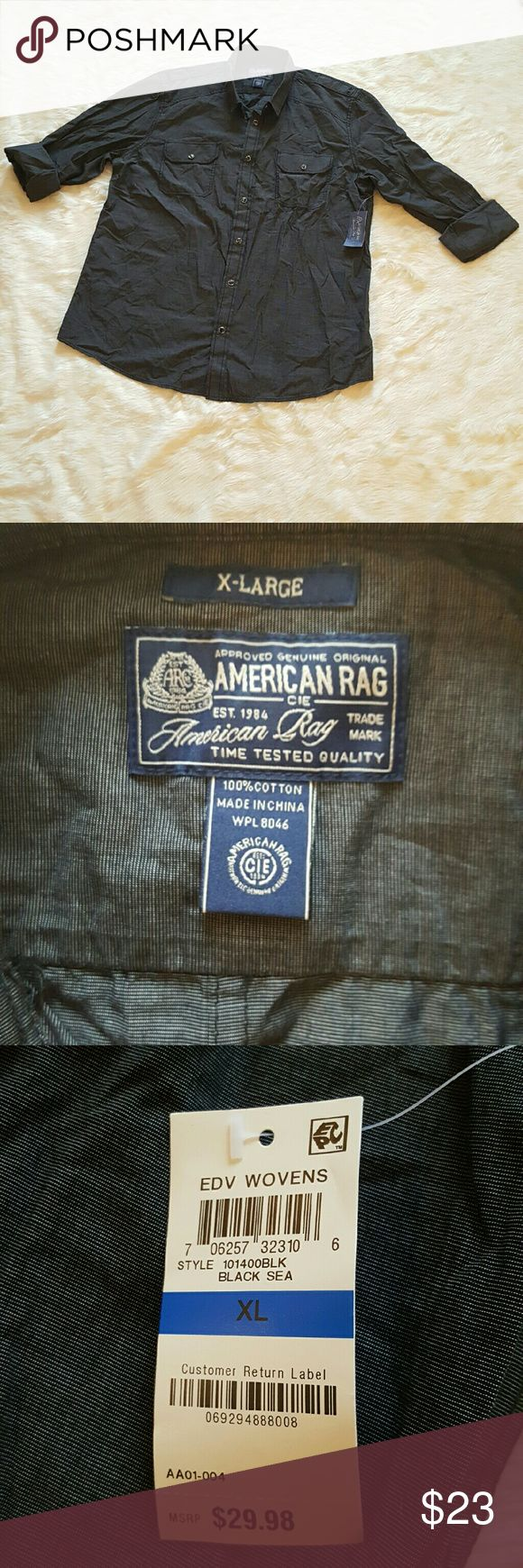 American Rag Casual Button Down Shirt Brand: American Rag  Material:?100% Cotton   Size: XL  Condition: New with tags American Rag Shirts Casual Button Down Shirts