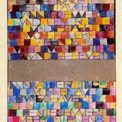 Paul Klee Letter Painting: you could easily tie this into a Thanksgiving theme by having kids write what they're thankful for