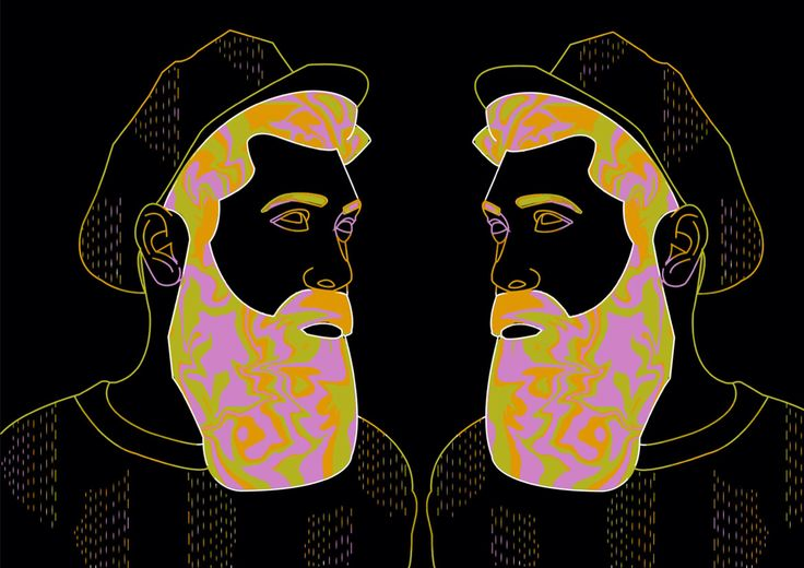 Technobeard by Brittney Lee Waters #illustration #art #design #drawing #psychedelic