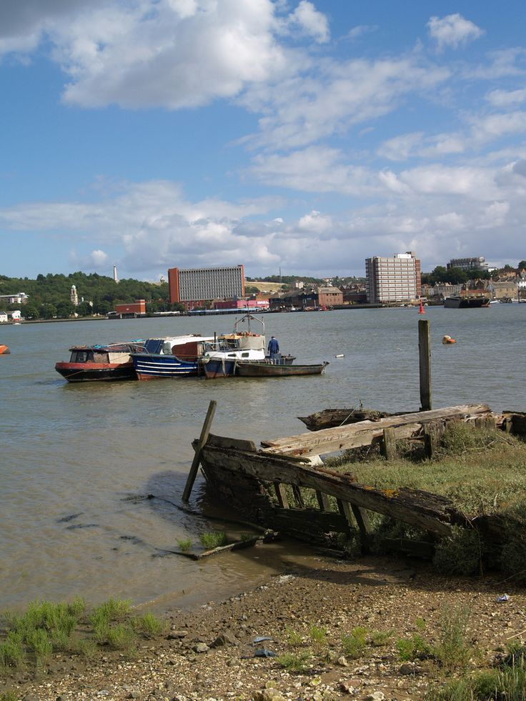 A view across the Medway towards Chatham town centre [shared]