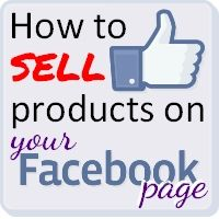 How to Sell products on your Facebook Page