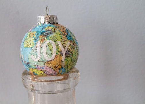 World map ornaments - Stitch/Craft blog