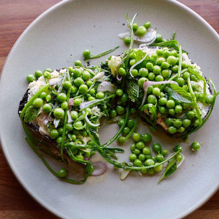 English Pea Toast - Fresh Pea Recipes  - Sunset