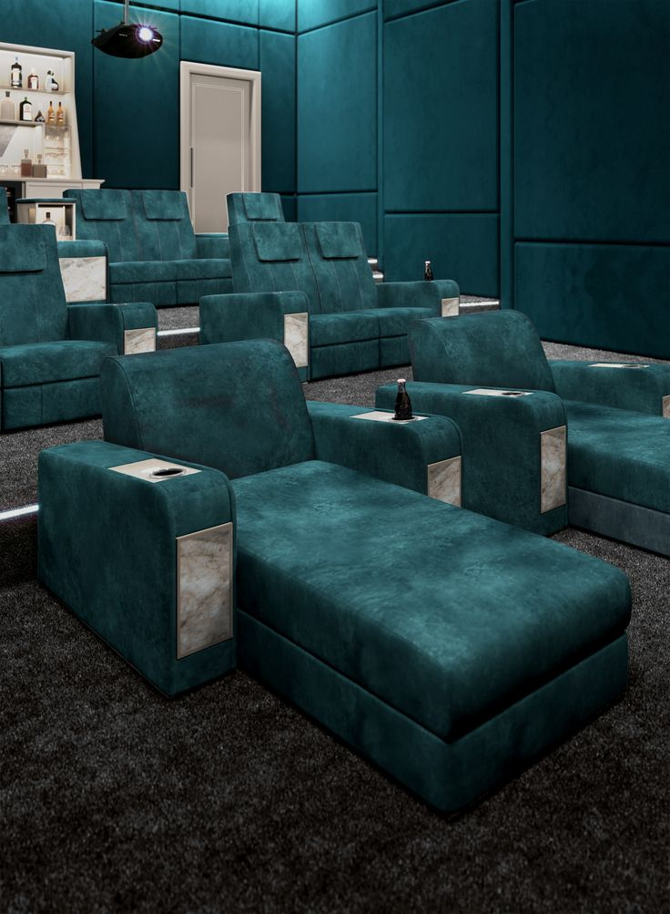 What's better than a relaxing night with friends in your luxury private Cinema Room? Vismara entirely projects your personal home theater room! #luxuryhometheater #privatecinema