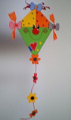 Fensterbild lustiger Drache grün  -Sommer-Herbst- Dekoration - Tonkarton!