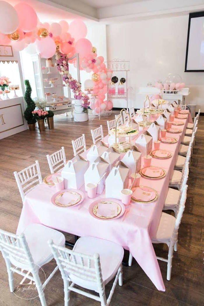 Guest table from a High Tea Birthday Party on Kara's Party Ideas   KarasPartyIdeas.com (5)