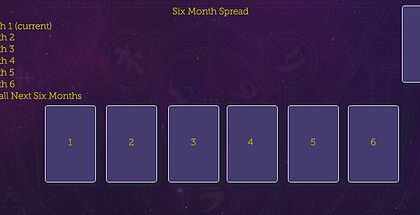 Six Month Tarot Spread! Check out this and more free tarot spreads by The Tarot Guide! Tarot card spreads, tarot card layouts, love tarot spread, Relationship tarot spread, 6 month spread, free daily tarot, taro, free tarot, how to read tarot cards,