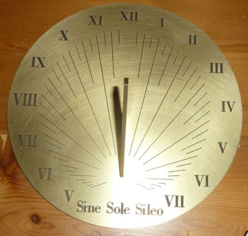 Brass-Sundial-8in-has-Latin-words-which-mean-Without-The-Sun-I-m-Silent-New