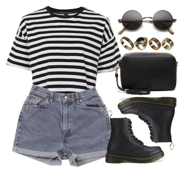 """Sin título #12842"" by vany-alvarado ❤ liked on Polyvore featuring French Connection, Levi's, Dr. Martens, Mulberry and ALDO"