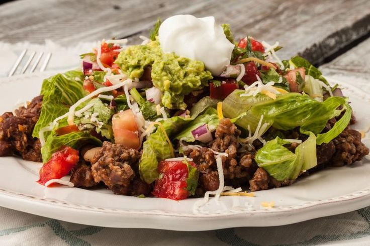 This zesty Clean Eating Taco Salad offers a nutritional profile you can feel good about. It's the perfect hearty meal to make on a busy schedule.