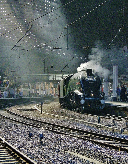 LNER A4 Pacific No. 60009 'Union of South Africa' At York With 'The Scarborough Flyer' (1Z80) #flickr #steam #train