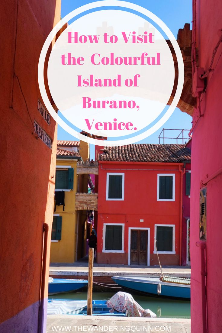 How to Visit the Colourful Island of Burano, Venice, Italy. Burano is like no places you have seen before, a tiny island filled with colourful buildings less than an hour from Venice, it's easy to get to by boat and its fascinating to see. Read about my visit here!