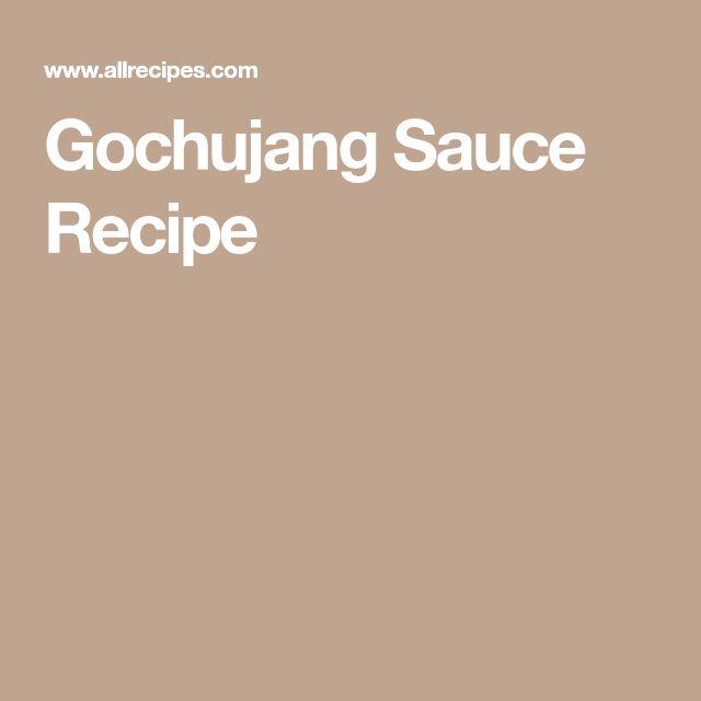 Gochujang Sauce Recipe