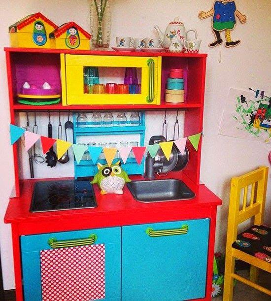 Mommo Design Ikea Play Kitchen Makeovers Ikea Hacks Pinterest Kitchen Hacks Cool Ideas