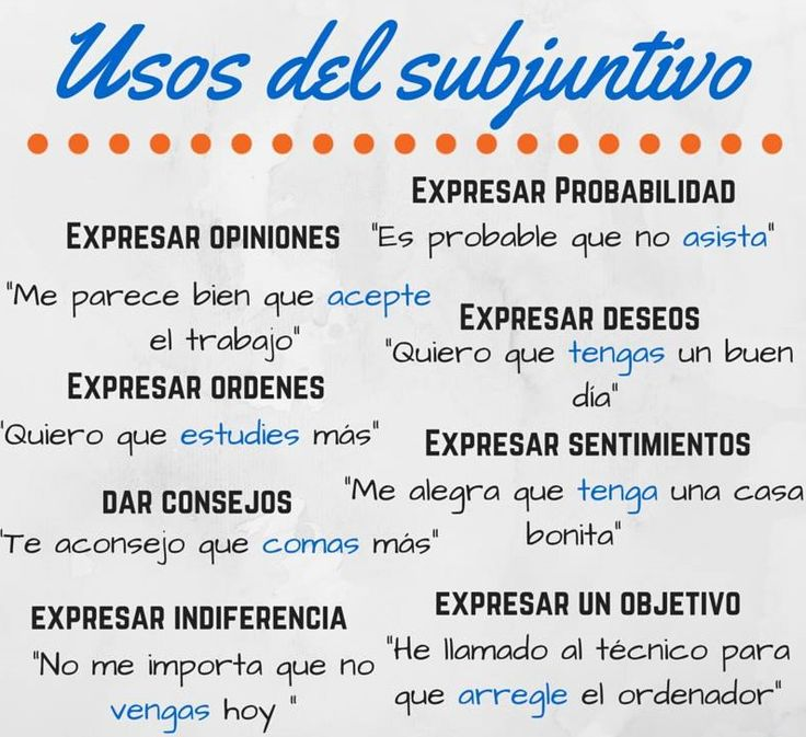 Subjuntivo in de Spaanse taal – Espaans - Blog