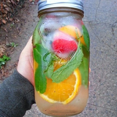 Minty citrus coconut water