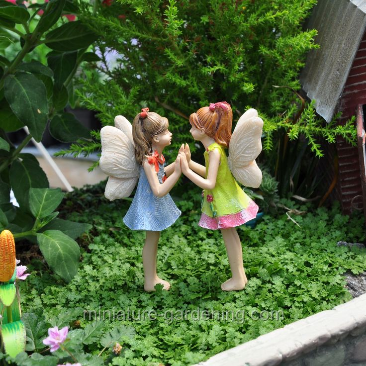 Miniature Gardening   Fairies Andrea And Amanda #fairygarden