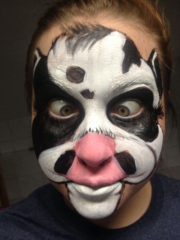 crazy cow face paint super easy for kids - Easy Scary Halloween Face Painting Ideas