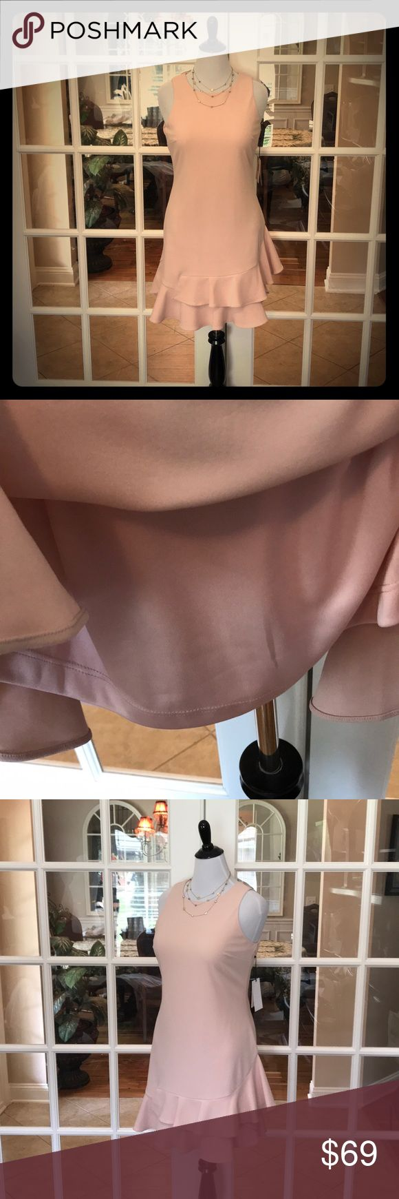 🆕 Ivanka Trump Blush Dress JUST IN‼️- This Ivanka Trump dress is a soft blush color.  The design is simple, yet very classy.  Dress is fully lined and has great 4-way stretch.   Shell 94% Polyester, 6% Spandex.  Lining is 100% Polyester. 💞 Ivanka Trump Dresses
