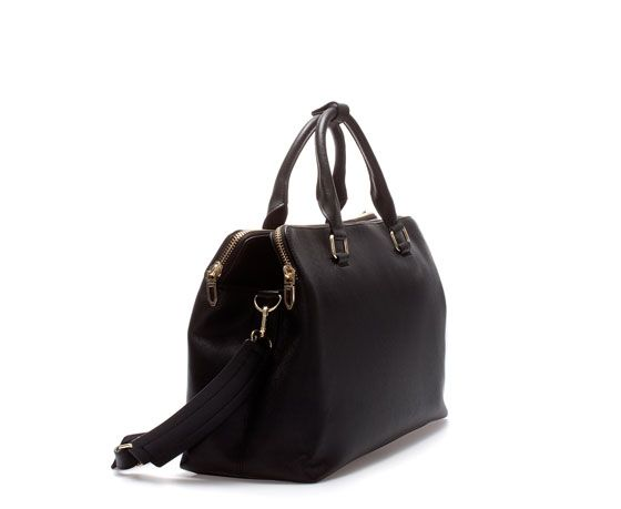 Image 2 of CITYBAG WITH ZIPS from Zara