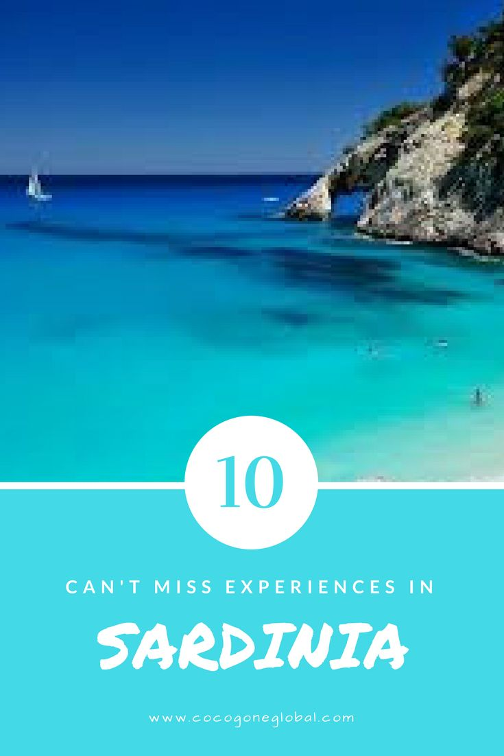 """10 Can't Miss Experiences in Sardinia. This autonomous Italian island offers the best in beaches, cascading landscapes, cuisine, wine, adventure, history and culture. Locals say """"Sardinia is not Italy"""". Learn why at www.cocogoneglobal.com"""