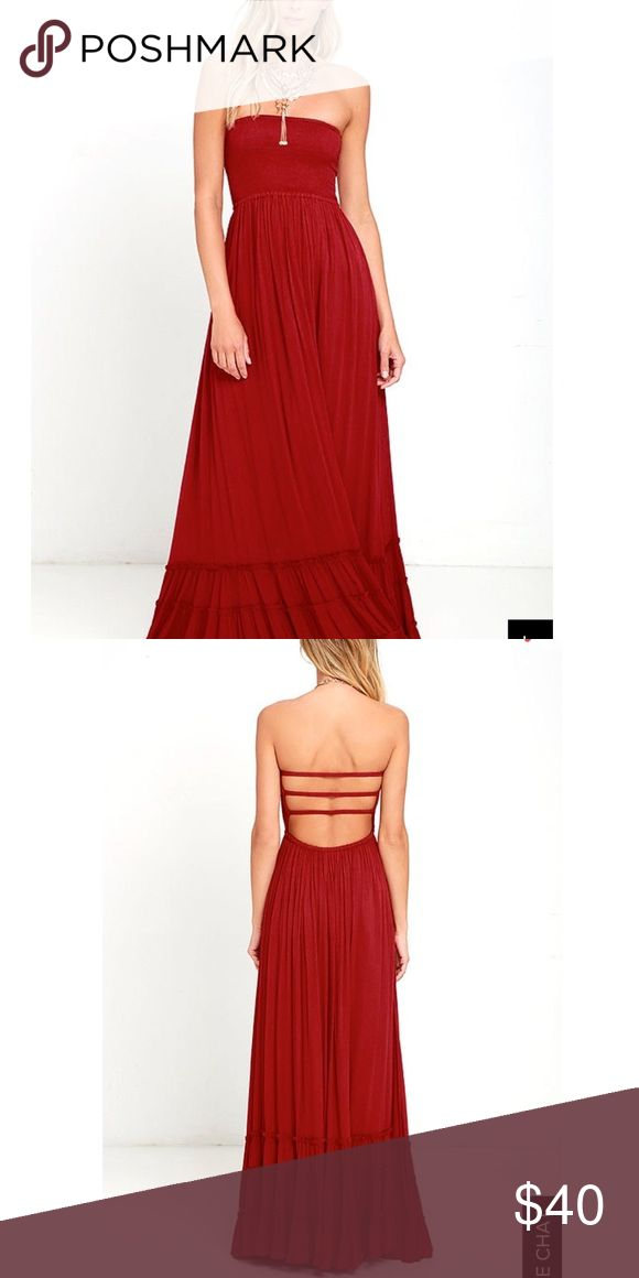 Red tube maxi dress/ open back!! Red maxi tube top dress open back!! NWT! Dresses Maxi