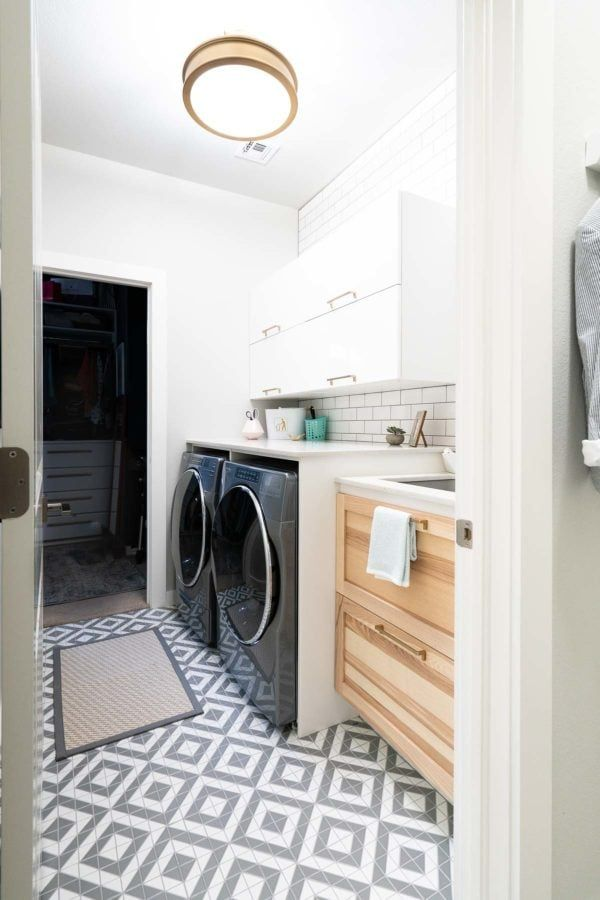 This Small Laundry Room Maximizes Every Inch To Create A Stylish