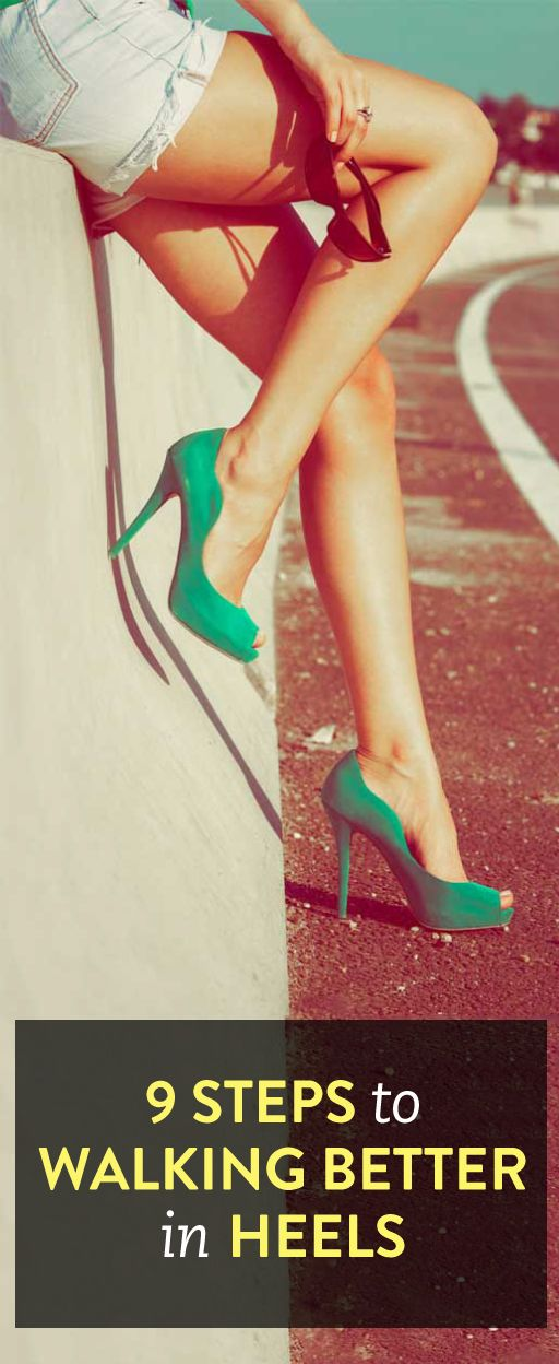 9 tips for walking better in heels - Face your fears and walk with your head held high. Get heels that will fit like Cinderella's glass slipper from Long Tall Sally and let go of any heel hang up's.